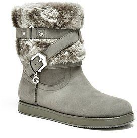 GByGUESS G By Guess Women's Aleesha Faux-Fur Boots $59.99 thestylecure.com