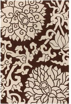 Thomas Paul Rugs Blossom In Chocolate And Cream