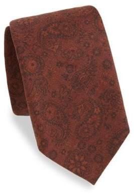 Isaia Rust Paisley Silk Tie