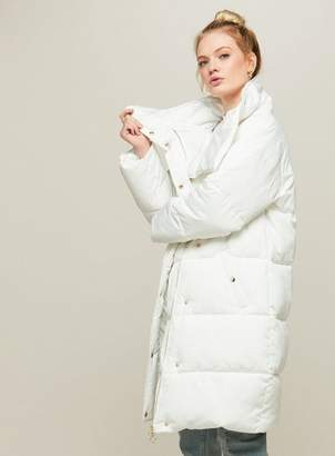 Miss Selfridge White duvet puffer jacket