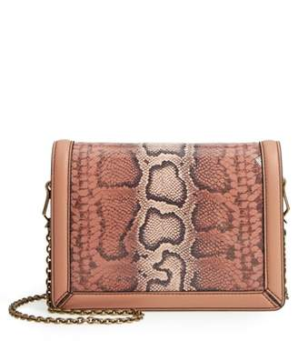 Bottega Veneta Mini Motobello Genuine Snakeskin & Leather Wallet on a Chain