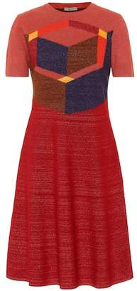Bottega Veneta Wool-blend jacquard dress