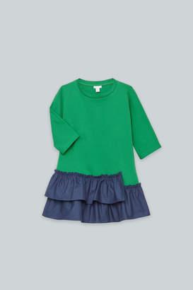 Cos GATHERED-PANEL JERSEY DRESS