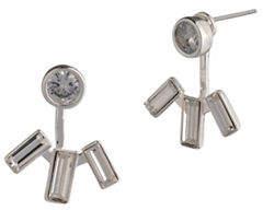 Lauren Ralph Lauren Crystal and Silver Drop Earrings