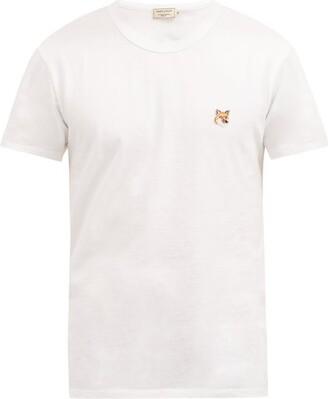 MAISON KITSUNÉ Fox Applique Cotton T Shirt - Mens - White