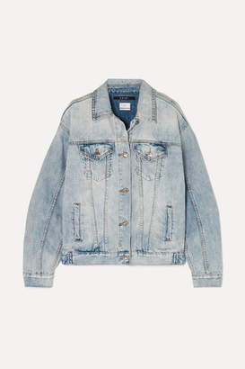 Ksubi Oversized Distressed Denim Jacket - Light denim