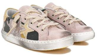 Star Kids 2 distressed-effect sneakers