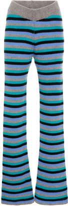 The Elder Statesman M'O Exclusive Striped Cashmere Pants
