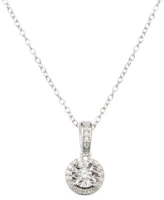 Rina Limor Fine Jewelry Women's Sterling Silver & Diamond Halo Pendant Necklace