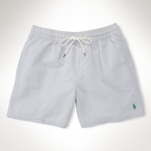 "Polo Ralph Lauren Seersucker 6"" Swim Boxer"