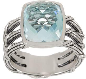 Peter Thomas Roth Sterling Silver & Blue Topaz Cushion Cut Ring