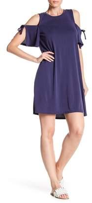 1 STATE 1.State Cold Shoulder Tie Dress