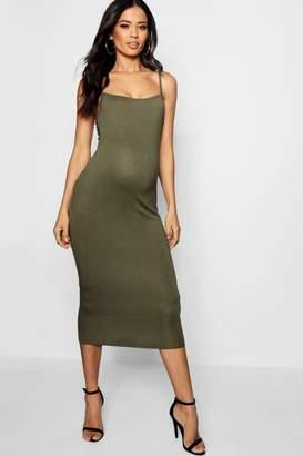 boohoo Maternity Anna Jersey Square Neck Midi Dress