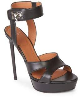 Givenchy Turnlock Ankle-Strap Sandals