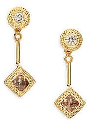 De Beers Women's Talisman Essence Diamond& 18K Yellow Gold Drop Earrings