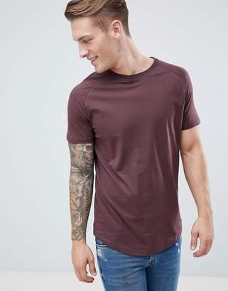 Jack and Jones Long Line Curved Hem T-Shirt