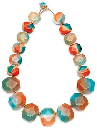 Lola Rose Elemental Chunky Nugget Tie Dye Agate Necklace of 48cm