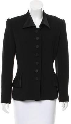 Oscar de la Renta Structured Button-Up Jacket