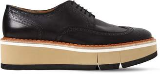 Robert Clergerie Coel Brogue Leather Lace-Up Shoes