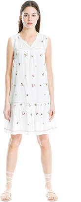 Max Studio floral embroidered shift dress