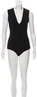 Alice + Olivia Sleeveless Plunging Bodysuit w/ Tags