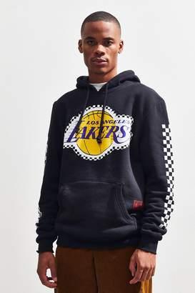 Mitchell & Ness Los Angeles Lakers Checkered Logo Hoodie Sweatshirt