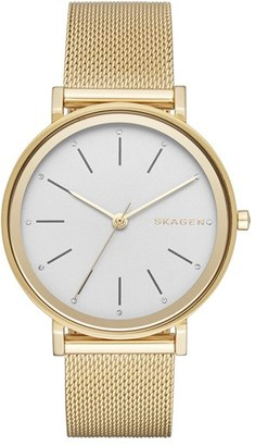 Skagen 'Hald' Round Mesh Strap Watch, 34mm $175 thestylecure.com