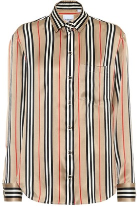 Burberry Icon Stripe silk-satin shirt