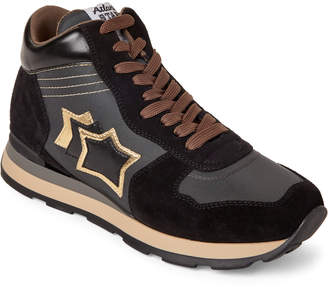 Mizar by oso azul Atlantic Stars Black & Gold High-Top Sneakers
