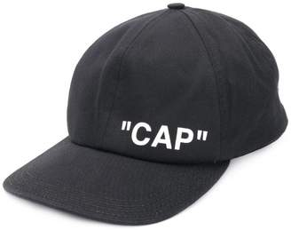 Off-White printed cap