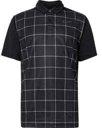 9b879223 Nike Essential Checked Dri-FIT Mesh Polo Shirt - Men - Black