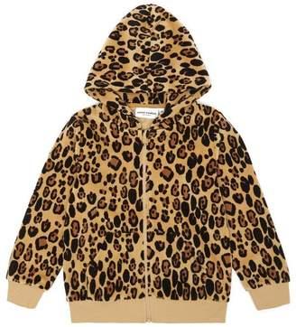 Mini Rodini Velour Leopard Zip Hoodie