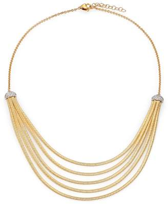 Marco Bicego Cairo Diamond & 18K Yellow Gold Five-Row Bib Necklace