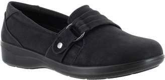 Easy Street Shoes Asymmetrical Strap Comfort Slip-Ons- Tully