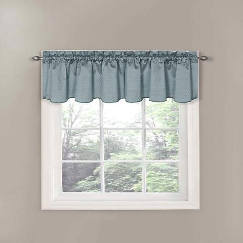 Thermaback Canova Blackout Window Valance - River Blue (42