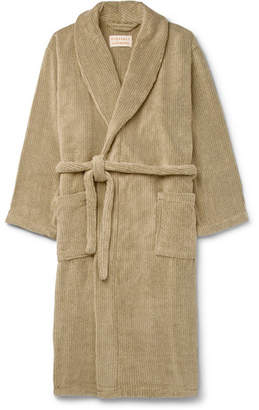 Laundry by Shelli Segal Cleverly Striped Cotton-Terry Robe