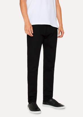 Paul Smith Men's Tapered-Fit 'Super Black' Stretch-Denim Jeans