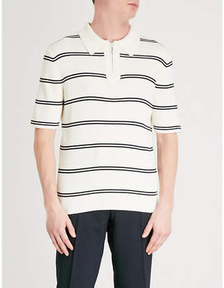 Sandro Striped ribbed-knit wool and cotton-blend jumper