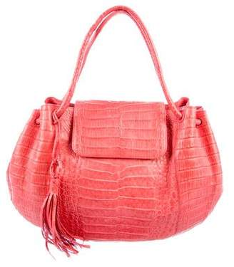 Nancy Gonzalez Crocodile Flap Shoulder Bag
