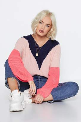 Nasty Gal Going in Chev-y Sweater