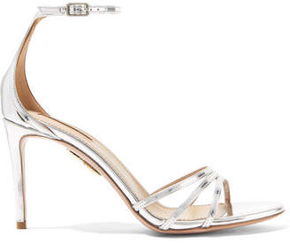 Aquazzura Very Purist Mirrored-leather Sandals - Silver