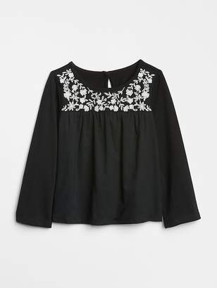 Gap Embroidery Long Sleeve Top