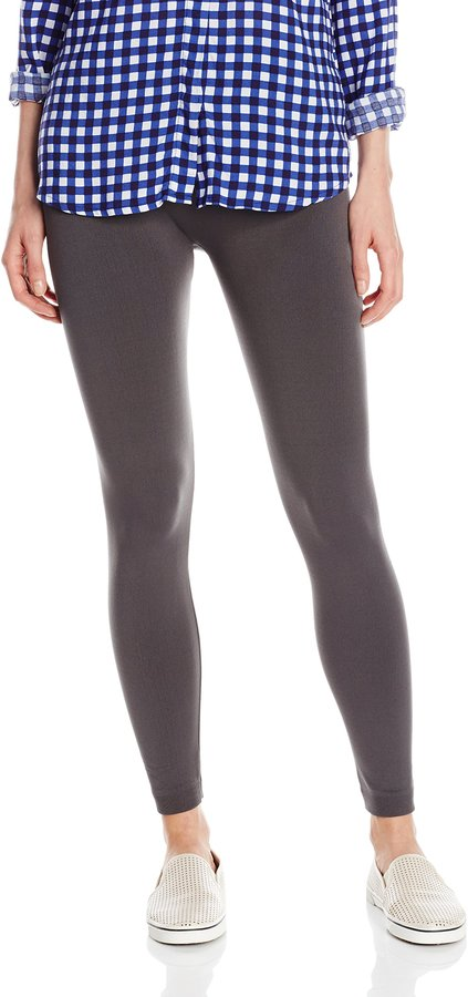 Carnival Women's Full Length Seamless Microfiber Fleece Lined Leggings