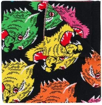 Gucci tiger pattern scarf