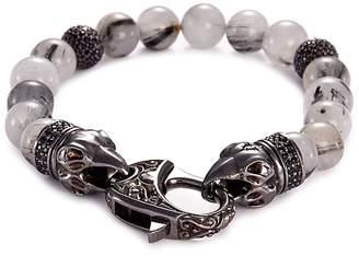 Stephen Webster 'Beasts of London Raven Head' sapphire quartz bead bracelet