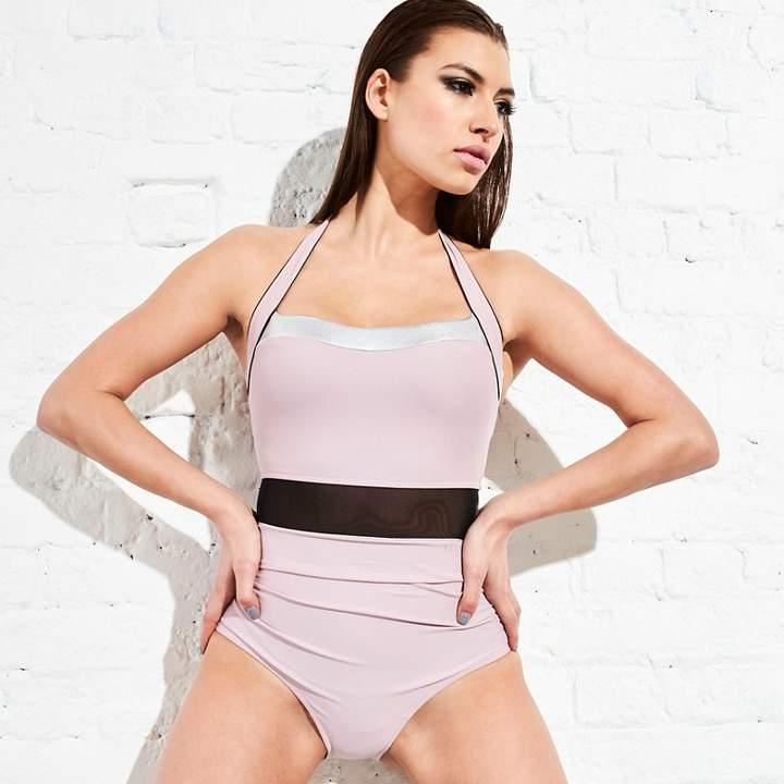 ELLE SPORT Elle Sport - Pink Bandeau Halter Neck Swimsuit