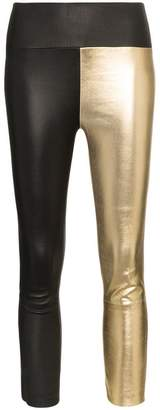Christian Louboutin Sprwmn High-Waisted Cropped Leather Leggings