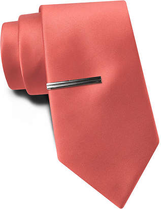Jf J.Ferrar JF Solid Tie and Tie Bar Set - Slim