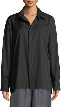 eskandar Slim Shirt with Collar