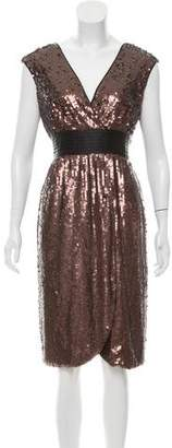 BCBGMAXAZRIA Silk Sequin Dress